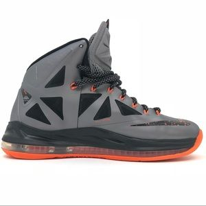 10137d3cf69ae Nike Shoes - Nike Lebron X 10 Charcoal Total Orange Black Lava